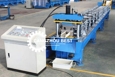Steel Rain Water Gutter Equipment Cold Roll Forming Machine With Chain Transmission